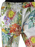 Dames comfy broek met tropical print - multicolor / wit_