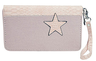 Dames portemonnee met ster - roze