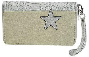 Dames portemonnee met ster - leger / grijs