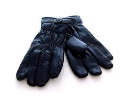 Handschoenen dames imitatieleder - zwart