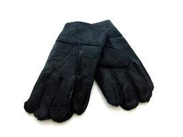 Handschoenen heren echt leder - zwart