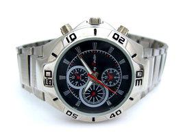 Jay Baxter herenhorloge met stalen band - zwart / rood