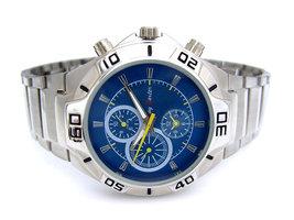Jay Baxter herenhorloge met stalen band - blauw