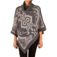 Poncho met Mandarijns design - grijs