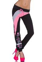 Dames joggingbroek - zwart / neon roze
