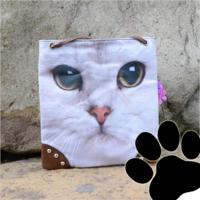 Dames tas / schoudertas klein met kat