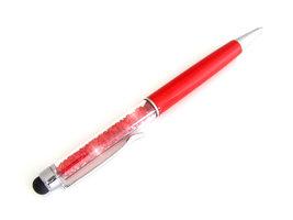 Pen met strass / balpen en stylus - rood