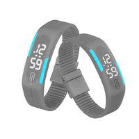 Digitaal touch horloge met rubberen band - grijs