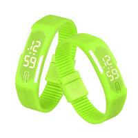 Digitaal touch horloge met rubberen band - groen