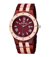 Skone wood watch, echt houten horloge - bruin / beige