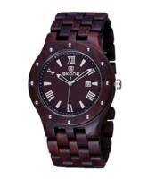 Skone wood watch, echt houten horloge - donkerbruin