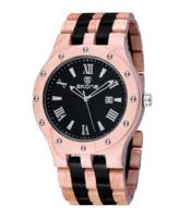 Skone wood watch, echt houten horloge - beige / donkerbruin