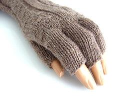 Handschoenen dames extra lang (toploos) - bruin