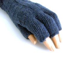 Handschoenen dames extra lang (toploos) - blauw