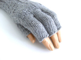 Handschoenen dames extra lang (toploos) - grijs