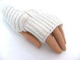 Handschoenen dames gebreid (toploos) - offwhite