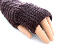 Handschoenen dames gebreid (toploos) - bruin