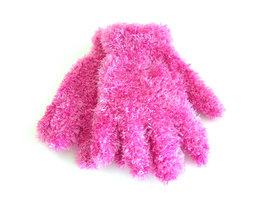 Kinderhandschoenen pluche - roze