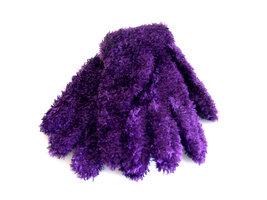 Kinderhandschoenen pluche - paars
