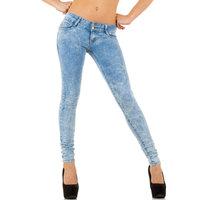 Dames spijkerbroek / skinny jeans - blauw