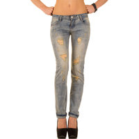 Dames spijkerbroek / straight fit jeans - blauw