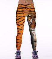 Dames sportlegging / lange legging - tijger