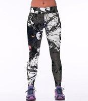Dames sportlegging / lange legging - panter