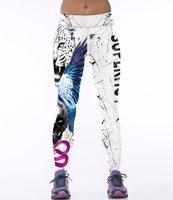 Dames sportlegging / lange legging - panter / vleugels