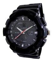 Analoog / digitaal horloge - zwart