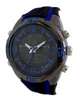 Vive analoog / digitaal horloge - zwart / blauw