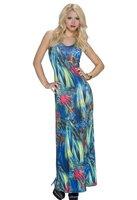 Dames maxi dress / lange jurk - groen / multicolor