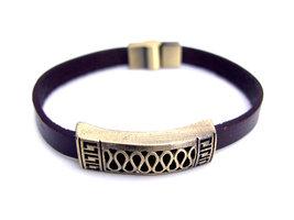 Armband leder / staal