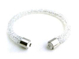 Crystaldust dames armband - wit
