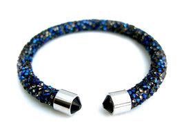 Crystaldust dames armband - blauw