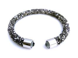 Crystaldust dames armband - antraciet
