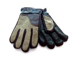 Handschoenen dames/heren leatherlook - bruin