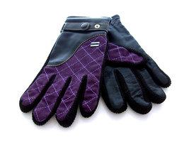 Handschoenen dames/heren leatherlook - paars