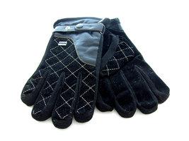 Handschoenen dames/heren leatherlook - zwart