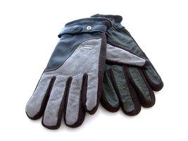 Handschoenen dames/heren leatherlook - grijs