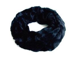 Dames pluche sjaal / loop kolsjaal imitatiebont - zwart