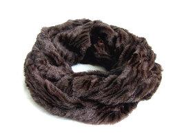 Dames pluche sjaal / loop kolsjaal imitatiebont - bruin