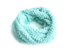 Dames pluche sjaal / loop kolsjaal imitatiebont - mint