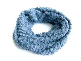 Dames pluche sjaal / loop kolsjaal imitatiebont - grijs