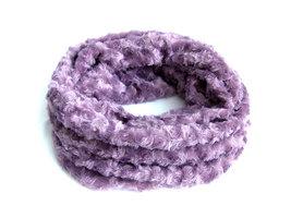 Dames pluche sjaal / loop kolsjaal imitatiebont - lavendel