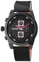 Raptor XXL horloge met lederen band - zwart