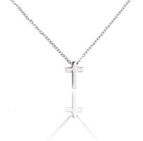 Ketting met hanger kruis - edelstaal