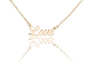 Ketting met hanger love - edelstaal gold plated