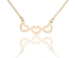 Ketting met hanger hart - edelstaal gold plated