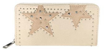 Dames portemonnee met sterren - beige