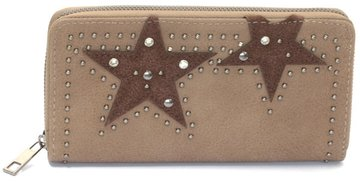 Dames portemonnee met sterren - bruin